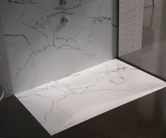Plato de ducha de imitación a piedra