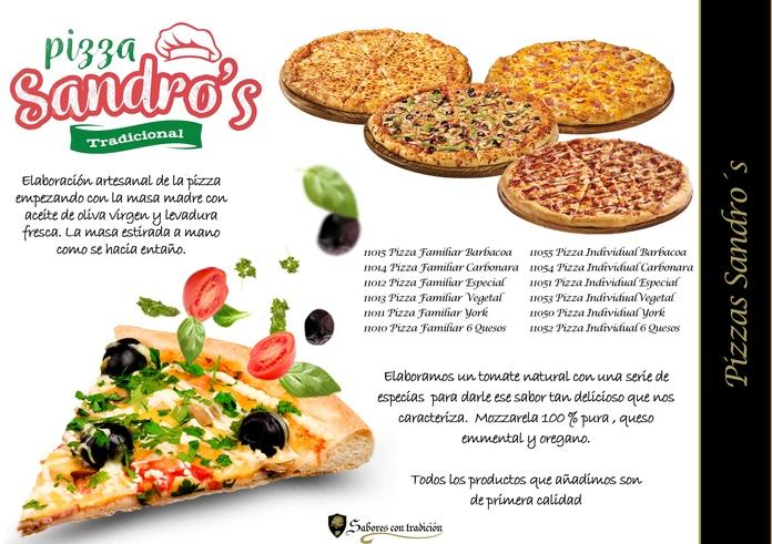Pizzas Sandro´s: Productos de Sabores con tradición
