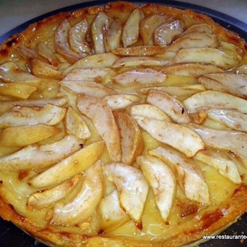 Tarta de pera vegana
