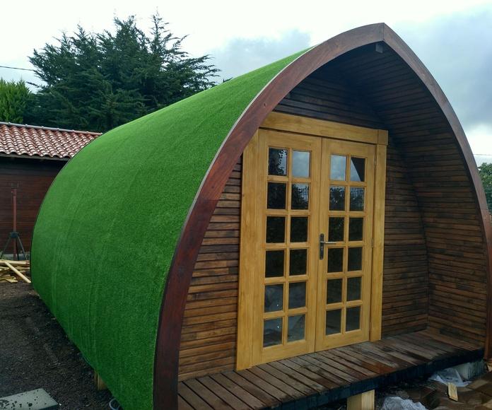 Cabaña Arco ext. cubierta cesped artificial