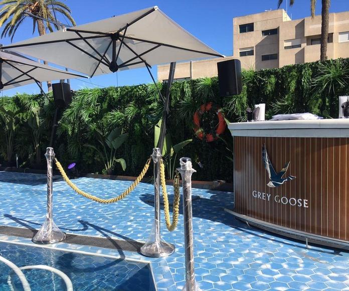 Terraza hotel Ibiza