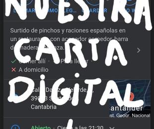 CONSULTA NUESTRA CARTA DIGITAL, ES MUY FÁCIL