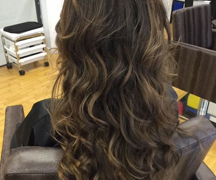 balayage tiger eye