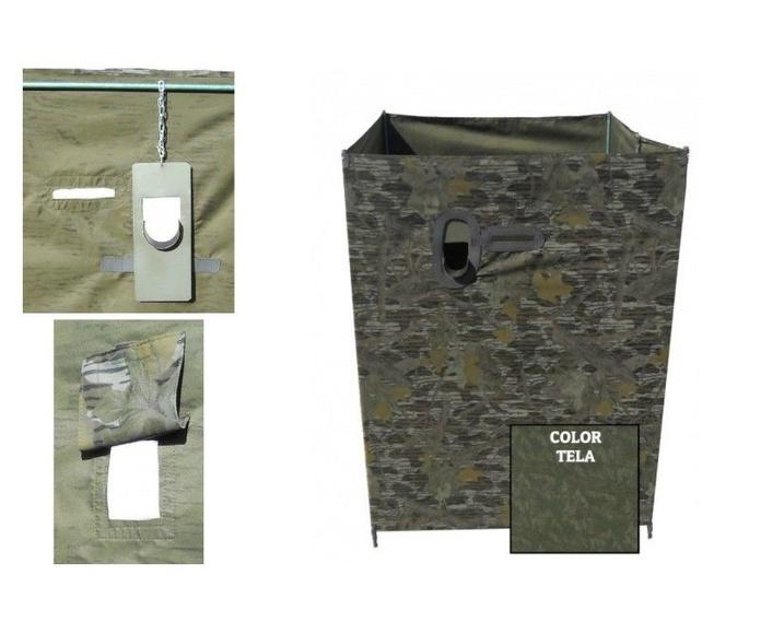 Puesto 4 caras cerrado camuflaje, en acero ligero: Tienda online de Artículos de Caza