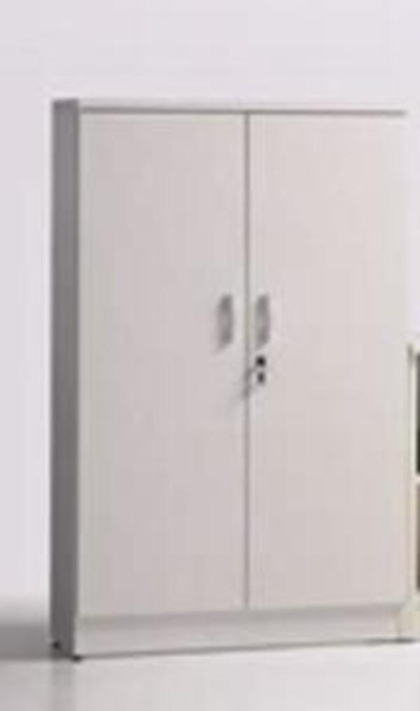 Armario mediano con puertas, cerradura y 2 estantes graduables