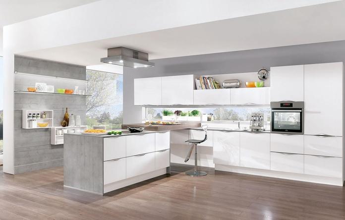 Reforma de cocina combinación grises y blanco