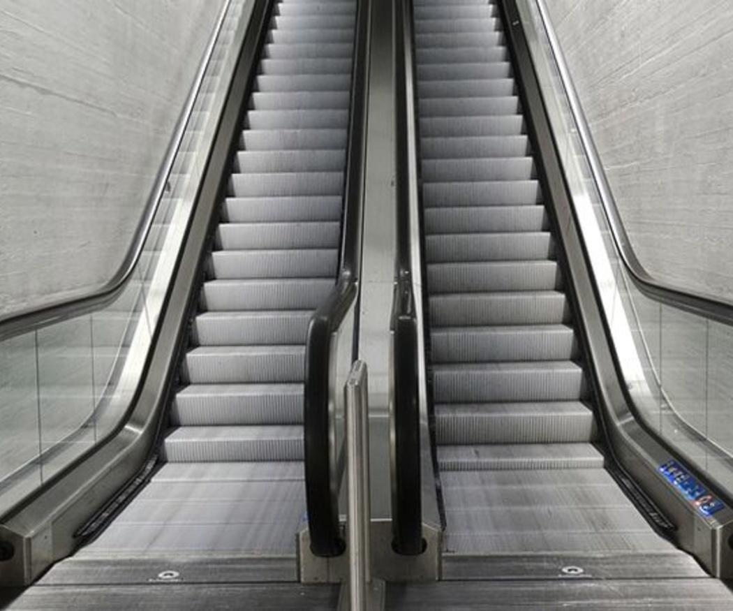 Las escaleras metálicas