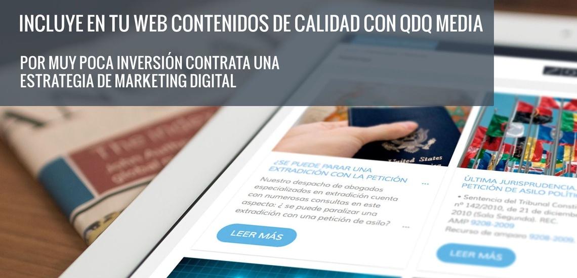 Web de empresa en el Eixample, Barcelona: incluye contenidos de calidad con QDQ media