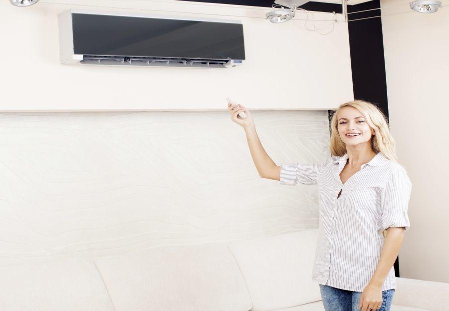 El aire acondicionado también puede servir para decorar