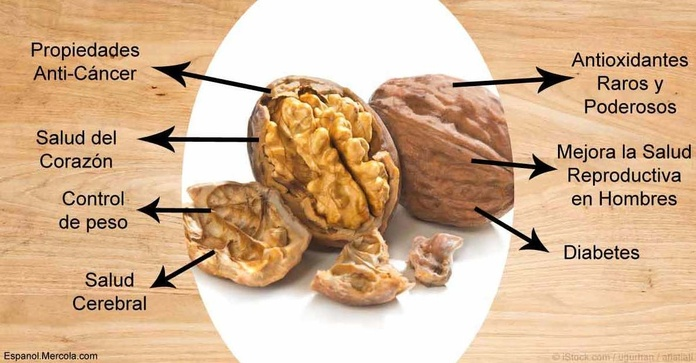 Pierde barriga comiendo nueces