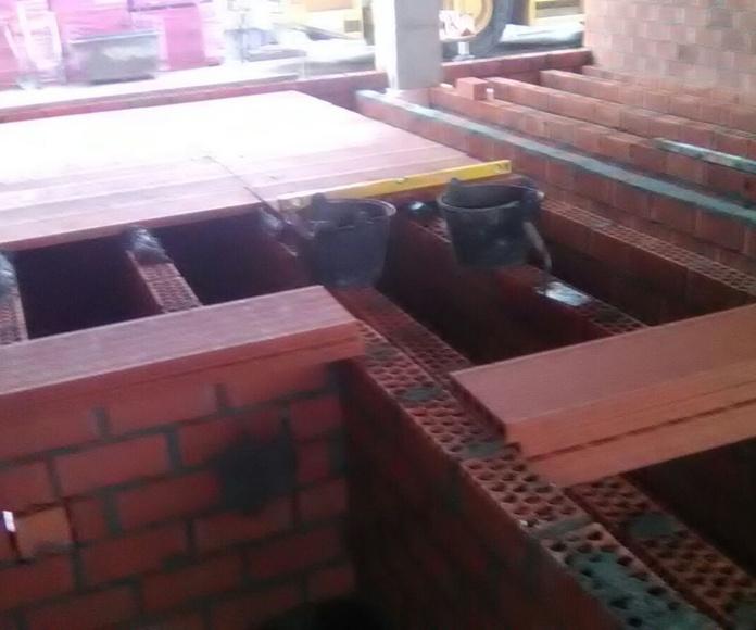 Construcción de suelo a distinto nivel