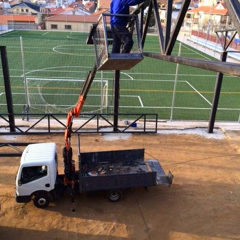 Estructura metalica para cubierta campo futbol sala