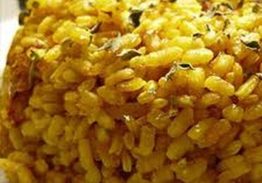 Arroz con pollo y salsa curry