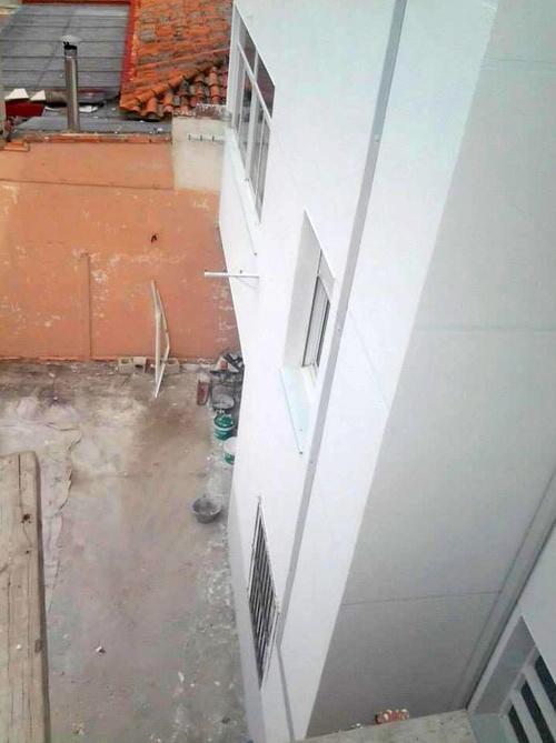 Trabajo de reforma de fachada