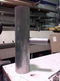 Reducción soldada en tubo de zinc en Girona