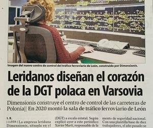 Una empresa leridana diseña el corazón de la DGT polaca en Varsovia