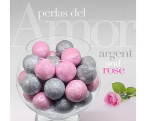 Bombones para regalar de plata y rosa