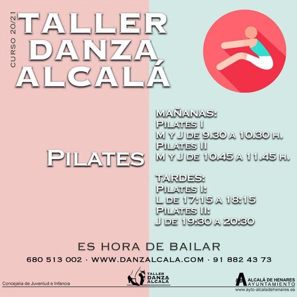 PILATES: Actividades y horarios   de Taller de Danza de Alcalá
