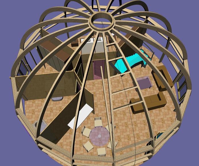 Diseño Domo 120 m2 Cortelima