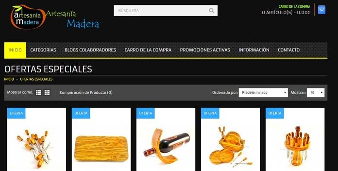 Grandes ofertas permanentes en utensilios de madera