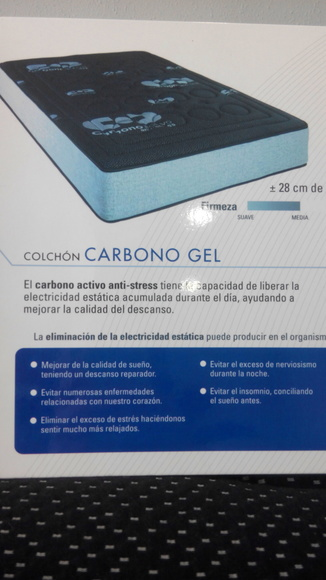 colchon carbono gel: Productos  de Muebles Llueca, S. L.