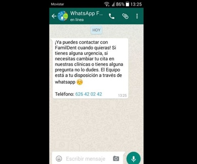 FamilDent en WhatsApp