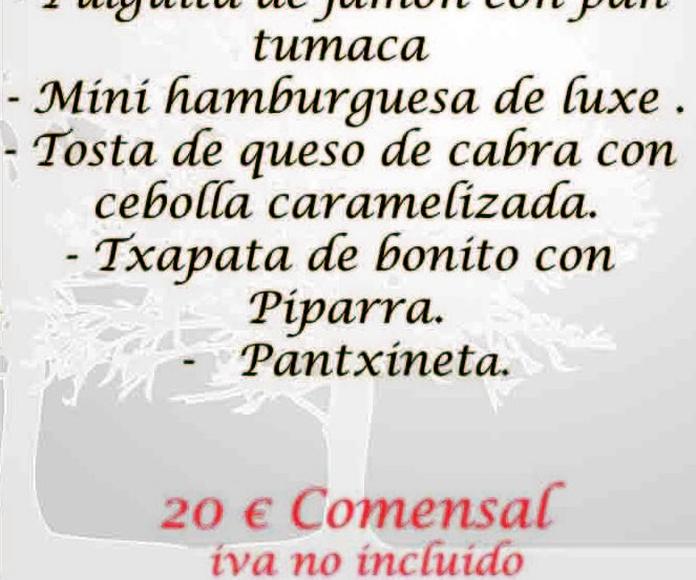 Menús de coctail Txoko Bilanda: Servicios Bilanda de Txoko Bilanda