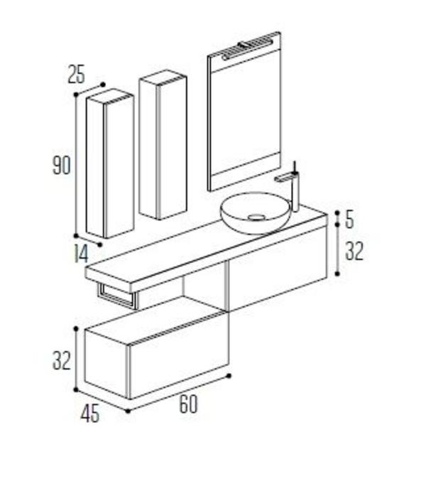 Mueble baño Modular Complet C10