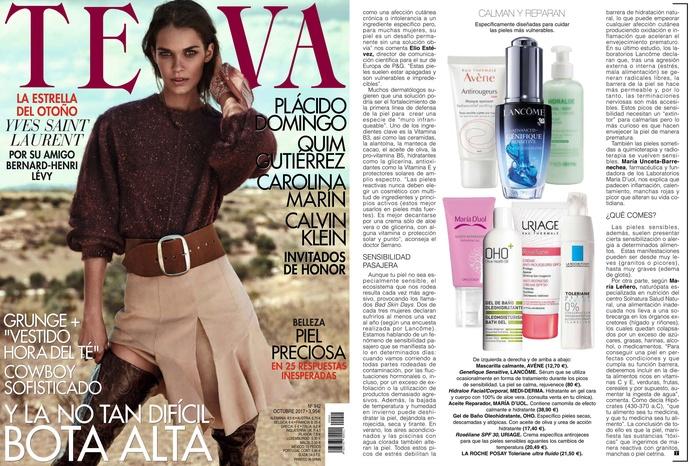 La revista TELVA recomienda nuestro producto de estética oncólogica