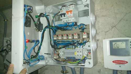 Cuadro para control de instalación de placas solares térmicas
