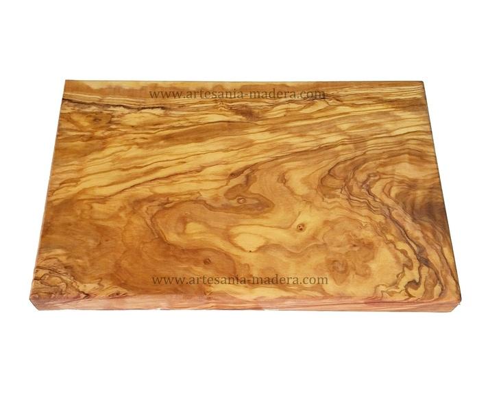 tabla madera olivo 30x20x2cm.