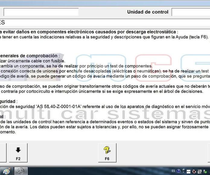 Indicaciones Xentry DAS español castellano 2018 star diagnosis