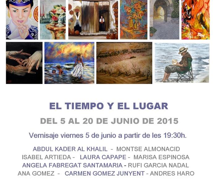 """Invitación de la Exposición """"El Tiempo y el Lugar"""""""