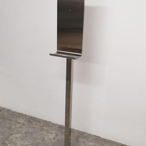 Base acero Inox para dispensador de gel automático