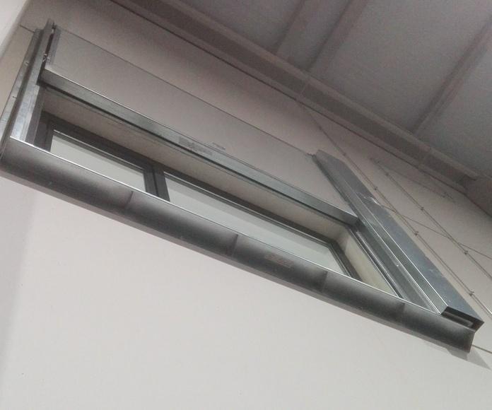 Puerta Corredera guillotina tipo ventana cortafuego EI260 Santander