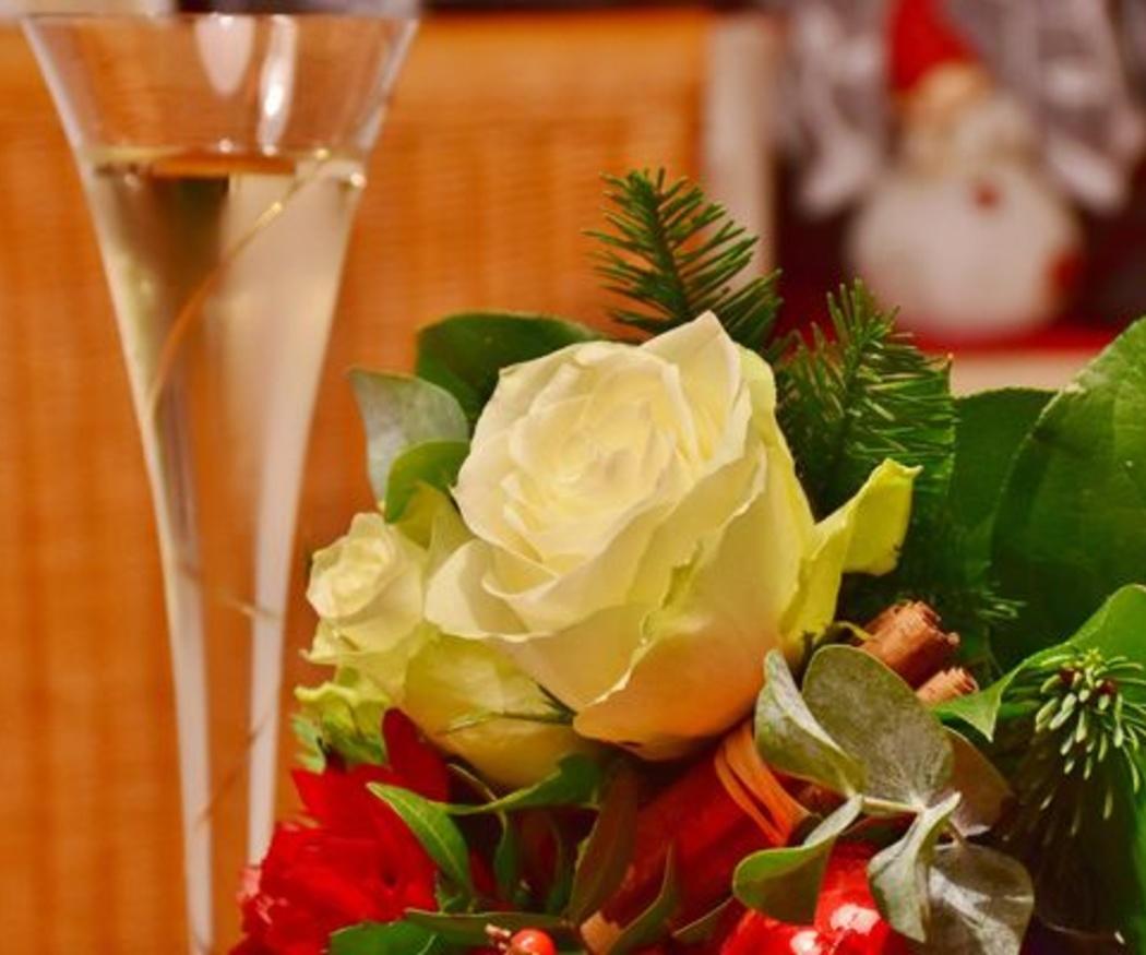 Centros de flores para la cena de Navidad