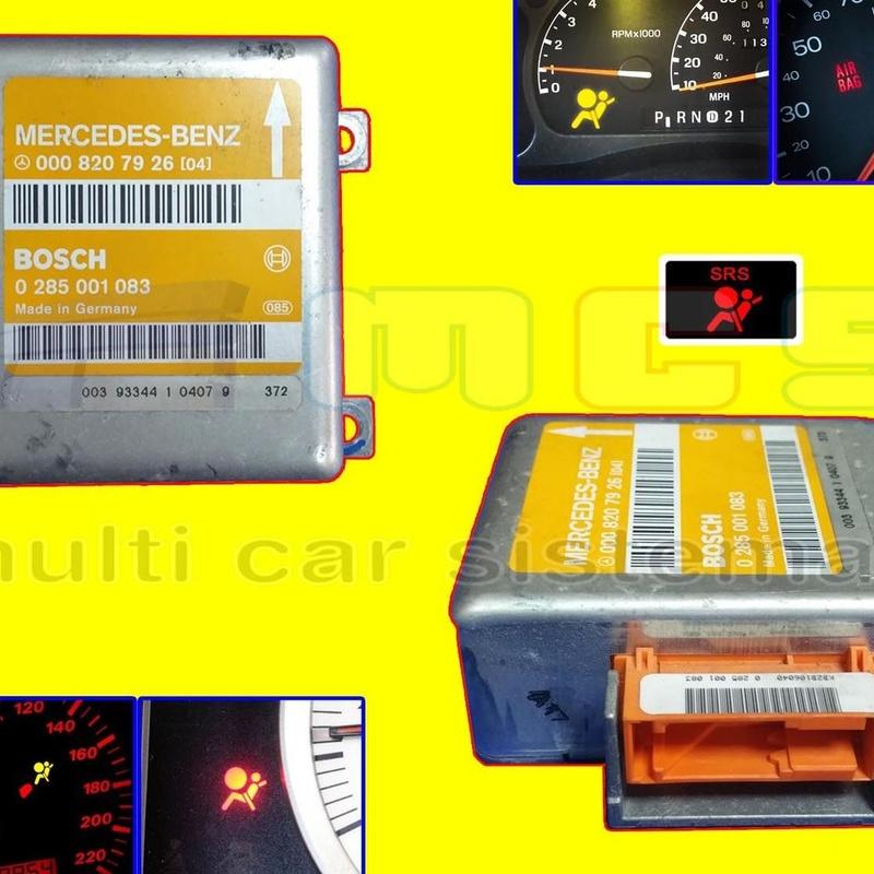 Reparación centralita AIRBAG fallo luz testigo cuadro instrumentos coche