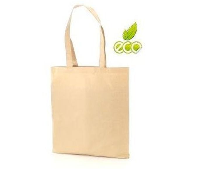 Bolsa ecológica en fibras de algodón y papel