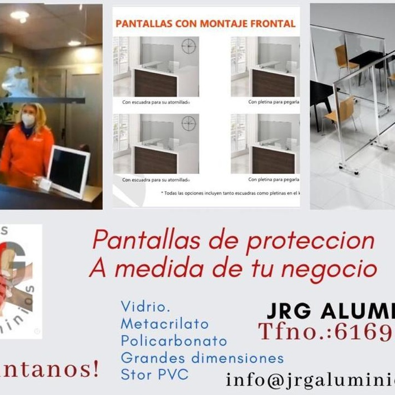 Pantallas Protectoras COVID 19: Servicios de JRG Aluminio- PVC