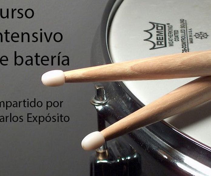 CURSO INTENSIVO DE BATERÍA: Catálogo formación de Bohemian Bocanegra Rhapsody Music