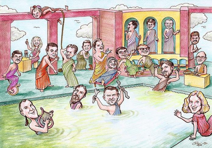 Caricatura grupo de trabajo