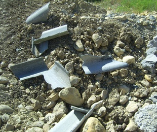 Escombros de Fibrocemento
