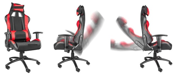 hjh OFFICE 625200 SILVERSTONE - Silla Gaming y oficina.Color rojo