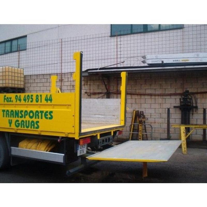 Camión grúa con plataforma: Servicios de Transportes y Grúas Lomax