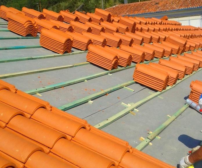 Rehabilitación de cubiertas y tejados en Torrelavega Santander.
