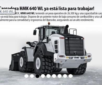 CARGADORA HIDROMEK HMK 640 WL EN PRUEBAS EN ARIDOS RUVI