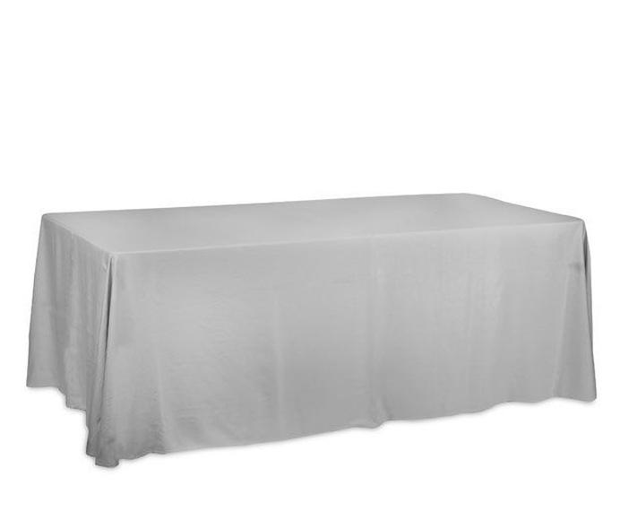 Mantel rectangular plata: Alquiler de Mantelería & Menaje