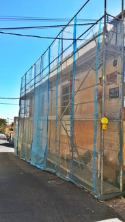 Andamio de fachada para rehabilitación de vivienda. Güímar.