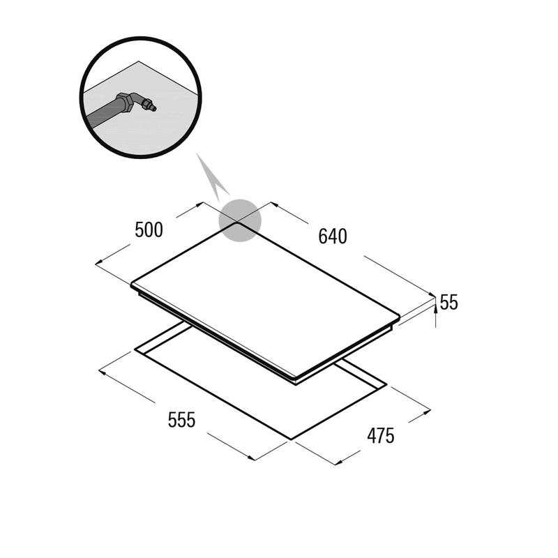 Placa cristal gas CATA LCIB 6031 BK: Catálogo de apluscocinas