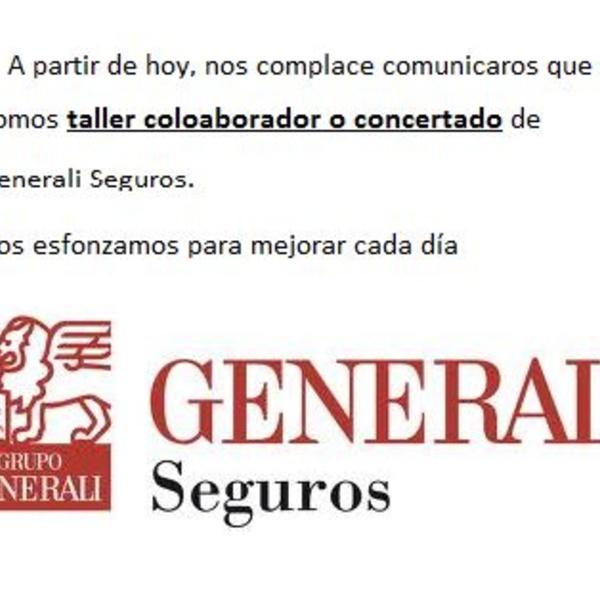 Somos taller colaborador de Generali seguros
